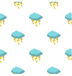 Storm cloud lightning bolt pattern seamless vector