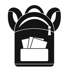 student backpack icon simple style vector image