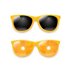 sunglasses set isolated white background vector image