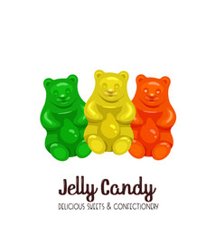 sweet marmalade teddy bears vector image
