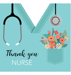 Thank you doctor and nurse - covid-19 pandemic vector