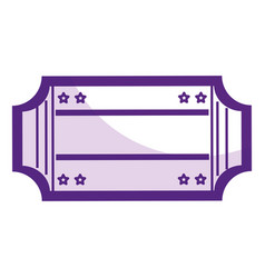ticket paper isolated icon vector image