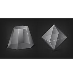 transparent figures vector image