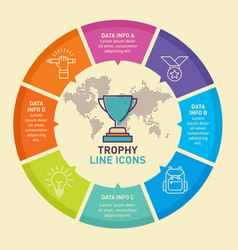 Trophy infographic template design template vector