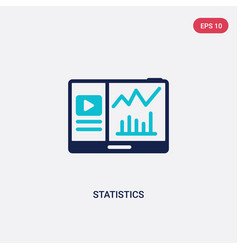 two color statistics icon from blogger and vector image