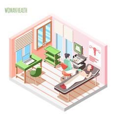 Ultrasound checking isometric composition vector