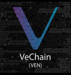 vechain cryptocurrency background vector image