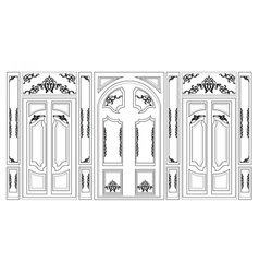 Wainscoting Decorative Damask frames vector