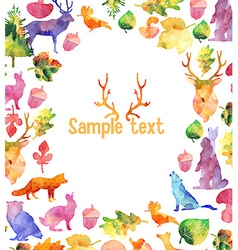 Watercolor design elements frame vector