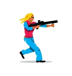 Woman with a gun Cartoon vector image