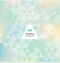 blue green abstract triangle pattern background vector image vector image