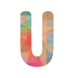 Colorful alphabet U vector image