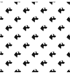 Dog pattern simple style vector image vector image