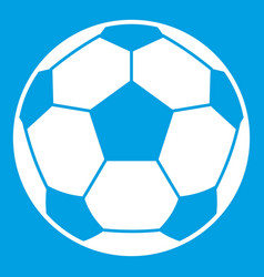 football soccer ball icon white vector image vector image
