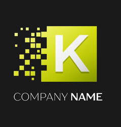 letter k logo symbol in the colorful square vector image