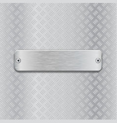 non slip metallic surface with brushed plate vector image
