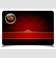 Red vip card vector image vector image