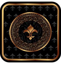 royal golden frame for design - vector image