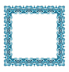 square frame from abstract element vector image vector image