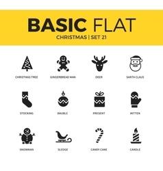 Basic set of christmas icons vector
