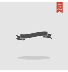 Flat ribbon icon vector image vector image