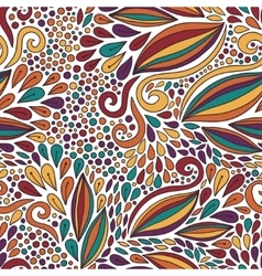 Floral seamless pattern Bright doodle modern vector image