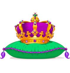 Mardi Gras crown vector image vector image