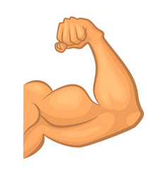 Strong biceps gym symbol isolate cartoon vector