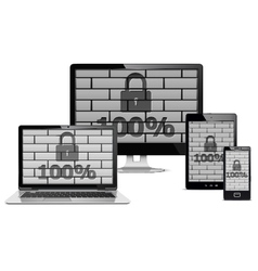 Electronic Devices Security Concept vector image vector image