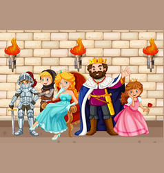 king and other fairytale characters vector image vector image