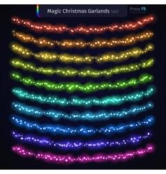 Magic Christmas Garlands Set3 vector image vector image