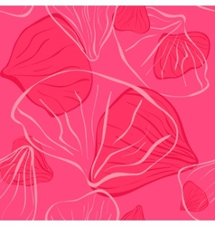 pink seamles with flower petal vector image