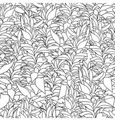 Seamless pattern with algae vector image