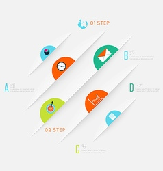 Abstract business info graphics template with vector image vector image