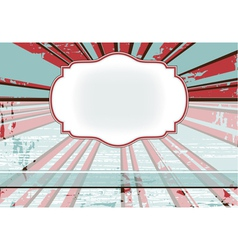 background with rays and vintage frame vector image