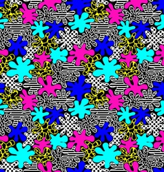 Colored bright spots seamless pattern in style of vector