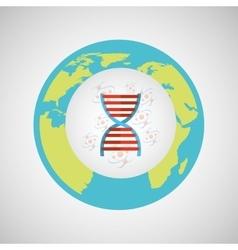 Concept science lab dna medical icon graphic vector