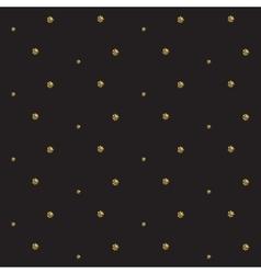 Gold foil glitter polkadot seamless pattern vector image vector image
