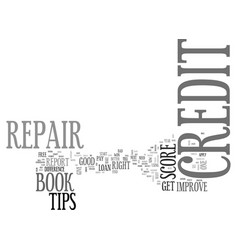 A credit repair book get one right here text word vector