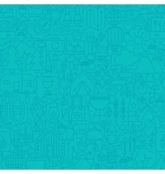 Adventure Camp Line Tile Pattern vector