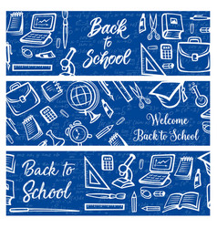 Back to school education and student study items vector
