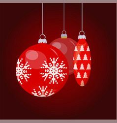 baubles and toys for christmas tree decoration vector image