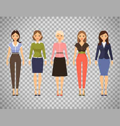 beautiful women in different outfits vector image