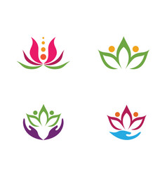 Beauty flowers design logo vector