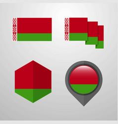 Belarus flag design set vector