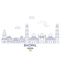 Bhopal city skyline vector