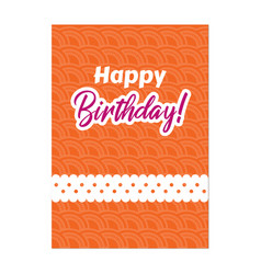Birthday orange background image vector
