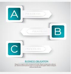 Business obligation background vector
