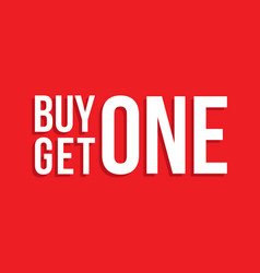 buy one get one sign drop shadow vector image