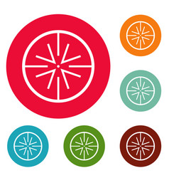 Center target icons circle set vector